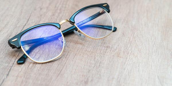 Glasses Lens light blue eye glasses.